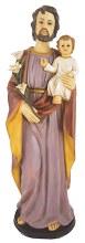 48555 St Joseph Fibreglass Statue 60cm