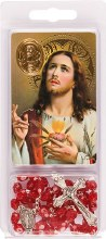 Sacred Heart Rosary Beads and Leaflet