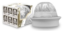 Porcelain Dome Light Last Supper