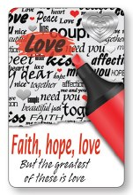 Prayer Leaflet Faith, Hope, Love