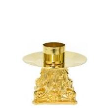 Single Gold Candle Holder