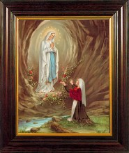 Lourdes Framed Picture (30 x 25cm)