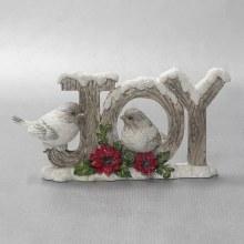 20523 Christmas Joy with Robins 9cm