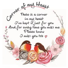 CHC001 Miss You Corner of My Heart Robin Card