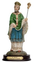 St Patrick Resin Statue (10cm)