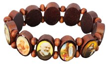 Wood Bracelet Elasticated