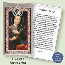St Gerard Prayercard and Medal