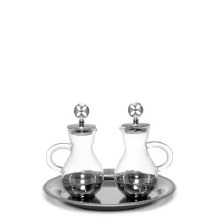 Silver Topped Cruet Set with Tray (75ml)