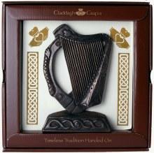 Irish Harp Plaque (16 x 16 cm)