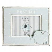 Blue Baby Boy Petit Cheri Elephant Frame