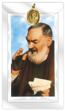 Padre Pio medal and Leaflet
