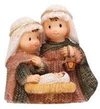 """89220 Resin Nativity/Holy Family 2 3/4"""" Peace"""