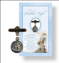 Baby Boy Angel Medal and Prayer