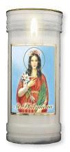 St Philomena Pillar Candle
