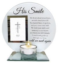 87461 His Smile Memorial Photo Frame and Tealight