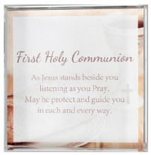 C50683 Glass first holy Communion Paperweight