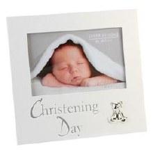 CG280 Christening Day Photo Frame with Teddy Bear