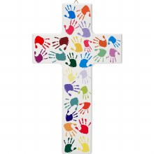 Hands of the World Wooden Cross (20cm)
