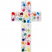 Hands of the World Wooden Cross (20cm)