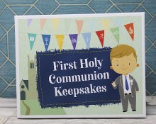 Boy First Holy Communion Keepsake Box