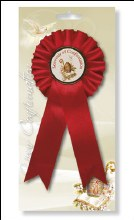 Confirmation Rosette with Picture Medal