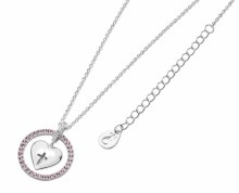 Heart in Pink Halo Necklace