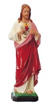 Outdoor statue of Sacred Heart of Jesus (80cm)