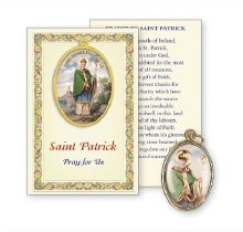 St Patrick Prayer Card with Medal