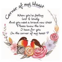 CHC006 Love I Have  Corner of My Heart Robin Card