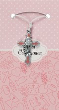 Pink First Holy Communion Cross