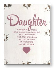 Daughter Distressed Wood Plaque