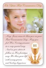 First Communion Prayer Card (Girl)