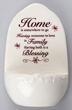 Home Porcelain Holy Water Font