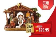 89575 Unto Us a Child is Born Nativity Scene
