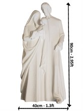 White Holy Family Fibre Glass Statue (90cm)