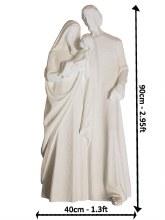 White Holy Family Fibre Glass Statue (90cm)