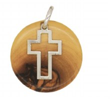 Open Cross  Star of Bethlehem Pendent