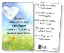 Someone in Heaven Prayer Leaflet