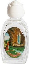 Lourdes Glass Holy Water Bottle