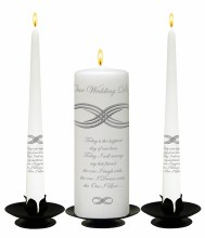 Infinity Knot White Wedding Candle