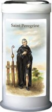 St Peregrine Pillar Candle