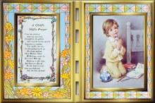 Boy Night Prayer Glass Prayer Plaque