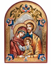 Holy Family Arch Hand Painted Italian Icon (40 x 60cm)