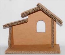 EC01 Small Shelter Cardboard Nativity Stable