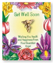 Get Well Soon Angel Brooch