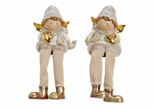White and Gold Christmas Angel Shelf Sitter
