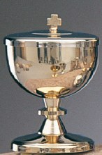 Ciborium Silver Finish (Holds approx 90 hosts)