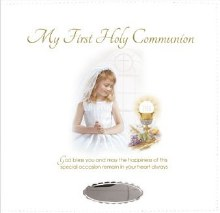 Girl White Leatherette First Holy Communion