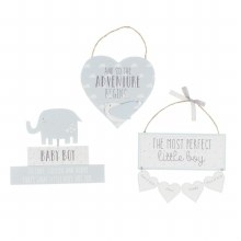 Baby Boy Petit Cheri Plaque 3 in a pack