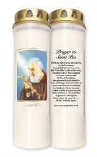 St Pio 7 Day Pillar Candle